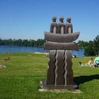 Скульптура в парке.