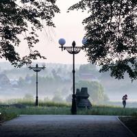 Цегтральная аллея в городском парке