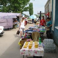 Мокроус. Ежедневный базарчик на улице Победы.