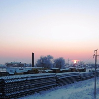 Мокроус. Железнодорожная станция.Уходящий день.