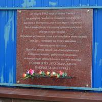 Ржевская площадь. Памятная доска на здании станция Ржевка