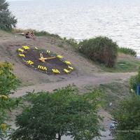 Цветочные часы на Приморской набережной