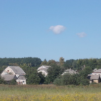 Вид на Новую Водолагу от лужка.