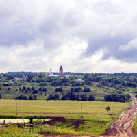 Панорама села Курчум