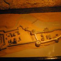Макет Староладожской крепости в экспозиции Воротной башни