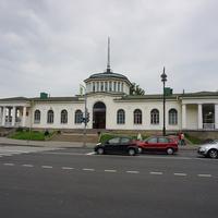 Павловск.Вид на здание ЖД вокзала.
