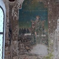 Воскресенская церковь в с. Кырмыж Куменского района. Часть росписей стен