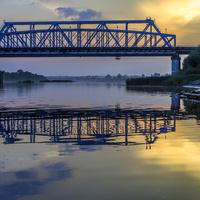 Железнодорожный мост в г. Лузе