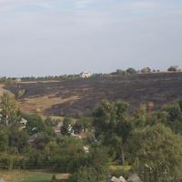 Новая Водолага. Вид после пожара на поле.