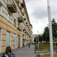 Один из четырёх крупноблочных домов первой серии, построенных в Москве (1940 год)