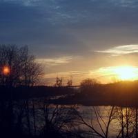 Река Исеть на рассвете.