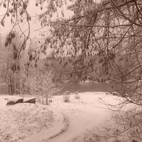Каменск. Зимой на набережной.