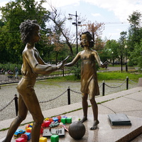 Скульптурная композиция, Дети