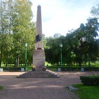 Памятник на месте получения смертельного ранения на дуэли А.С.Пушкина.