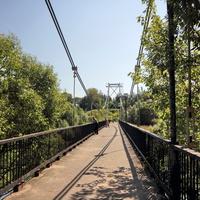 Подвесной мост над Тезой