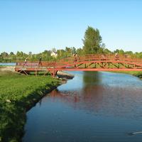 Мост в парке.