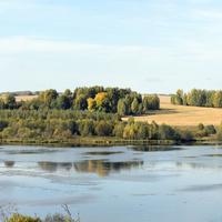 Река Куменка. Вид из деревни Кореповщина
