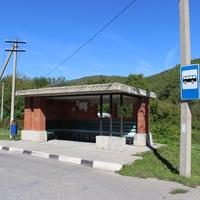 Прасковеевка. Автобусная остановка.