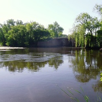 Річка Бовтишка,гребля ставка