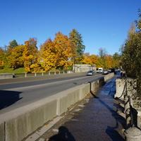 Проспект 25 Октября.Трёхарочный львинный мост.