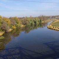 Річка Тясмин,вид з залізничного мосту.