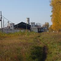 Район ЖД ст. Новый Петергоф.