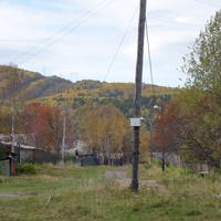 Мангутай деревенька на берегу  озера Байкал