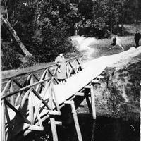 салтыковка.мост через ручей у желтого пруда 1968г.