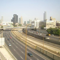 Вид от станции Tel-Aviv ha-Shalom