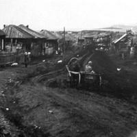 Фотография деревни Большая Ерба (Потенина) 1954 год, автор Л. Кузнецова.