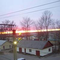 Закат в поселке