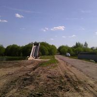 Горка в деревне Воронинская
