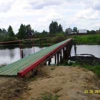Новый мост через реку Поля в деревне Воронинская
