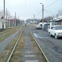 Линия маршрута №15 к северу от конечной станции «Шахта №12/18»
