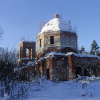 Богородицерождественская церковь на Николо-Пустопольском погосте у Курилово в начале восстановления. Февраль 2018г.