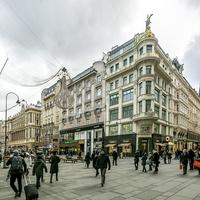 Пересечение главных пешеходных улиц - Грабена и Кольмаркта