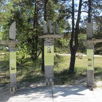 Стенд в честь одного из основателей латвийского мореходства - Кришьяна Валдемарса