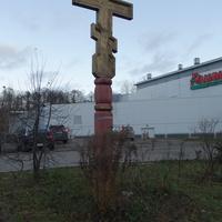 На Коломяжском проспекте. Поклонный крест.