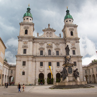"Зальцбургский собор (Dom zu Salzburg), памятник ""Deo Trino"""
