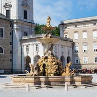 Фонтан на площади Резиденцплац