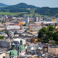 Вид на Зальцбург с крепости Хоэнзальцбург