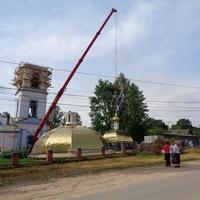 Церковь Святой Троицы. Установка куполов.Реставрация
