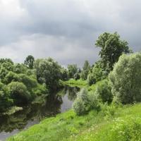 Река Тосна летом.