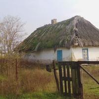 Стара хата під стріхою.