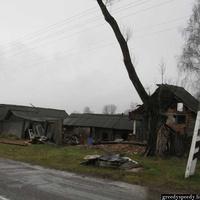 Улица заброшенной деревни