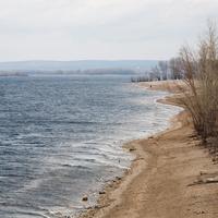 Пляж на реке Волга