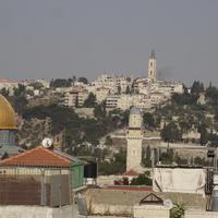 Слева мечеть Купол Скалы
