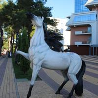 Скульптура коня на центральной набережной.