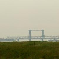 Разводной железнодорожно-автомобильный мост