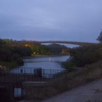 Пешеходный мост через реку Десна